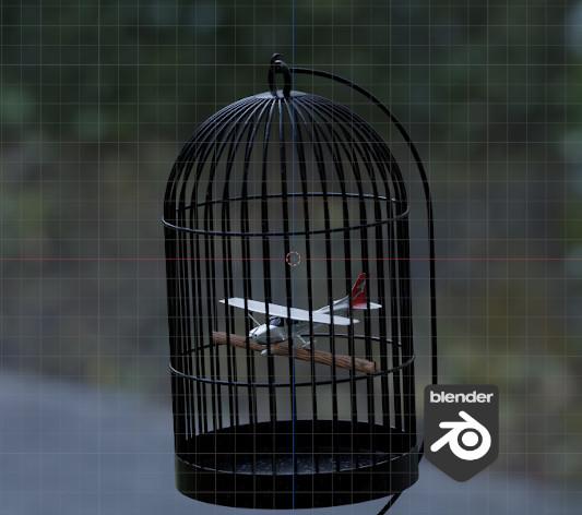 3D - Caged Bird